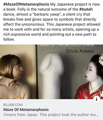 My new book on Japan project is available (silvia.alessi) Tags: geisha dance butoh artists project progetto japan