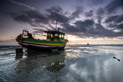 Jamaican Dawn Star (daveknight1946) Tags: essex southend thorpebay sunset fishingboat jamaicandawnstar clouds