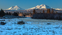 Morning In The Meadow (chasingthelight10) Tags: events photography landscapes highdesert meadows mountains nature snowscenes vistas places centraloregon indianfordmeadowpreserve sisters oregon threesisters otherkeywords sunrise