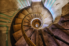 Spiral Staircase in Miami, Florida (` Toshio ') Tags: toshio miami florida america usa staircase stairwell spiral spiralstaircase historic vizcaya stairs architecture fujixt2 xt2 star museum