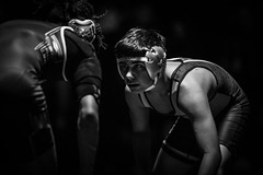 Wrestling in the Dark (Phil Roeder) Tags: desmoines iowa desmoinespublicschools lincolnhighschool wrestling roosevelthighschool grappler sport sports highschool athletics athletes blackandwhite monochrome canon6d
