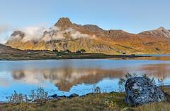 Litlroselva - Ramberg -Lofoten (ulrichcziollek) Tags: norwegen lofoten ramberg litlroselva reflexion spiegelung bucht meer berge wolken