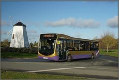 Go-Coach 6201 (YJ18 DKX) (Jason 87030) Tags: optare bus metrocity 431 gocoach windmill garden centre sunny morning sony ilce wheels gallery purple gold 10years wererightupyourstreet service route monday december 2019