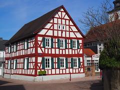 Fossil-Museum in Messel, near Darmstadt, Germany - 2019 (DieterLo1) Tags: archäologie ausgrabungen fossil fossilien museums museum häuser houses house halftimbered fachwerk haus
