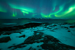 Northern Lights (gubanov77) Tags: northernlights landscape nature aurora auroraborealis winter night lodeynoye murmanskregion teriberka nationalgeographic north russiannorth russia kolapeninsula barentssea travelphotography travel starrysky stars tourism longexposure green sky