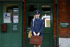 'Eleanor' (AndrewPaul_@Oxford) Tags: bluebell railway southern 1940s wraf womens royal air force platform horsted keynes station environmental portrait