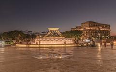 The world at hand (biktoras07) Tags: tritons sculpture fountain malta lavalletta night plaza people lights constrution architecture city sky victorsantos