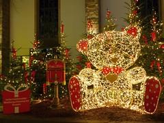 Christmas Teddy Bear... (Christa_P) Tags: christmas weihnachten lights teddybear essen weihnachtsmarkt christmasmarket germany nordrheinwestfalen beleuchtung crazytuesday festivelights
