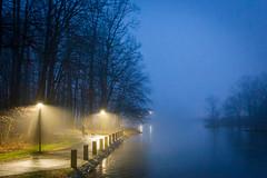 Evening Walk (Joe_R) Tags: water fog landscape lakeelkhorn columbia bluehour