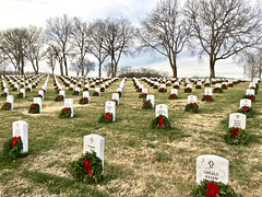 """""""Honor Without End"""" (Halvorsong) Tags: nature art lines pattern patterns honor duty usa america americana veterans army navy airforce marines composition cemetery death hope christmas holidays decor color red festive grass outdoor outside celebration graves discover explore captured photography halvorsong classic vintage old oldschool tradition heroes sacrifice heroism earth beauty awe trees sky light wow fun wreathsacrossamerica soldiers troops godblessamerica wreaths ribbons decoration projectamerica nation national merrychristmas"""