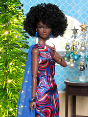 Afrolicious (back2s0ul) Tags: poppy parker black doll africanamerican rendezvous rio mission brazil christmas