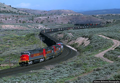 Coal Train Through 'The Wiggle' (jamesbelmont) Tags: utahrailway coal mk5000c emd sd40 mpi kyune colton utah riogrande drgw thewiggle train railroad railway locomotive swinghelper soldiersummit pricecanyon