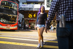 Street Style (人間觀察) Tags: 28mm f14 7artisans 七工匠 leica leicam hong kong street photography people candid city stranger public space walking off finder road travelling trip travel 人 陌生人 街拍 asia girls girl woman 香港 wide open