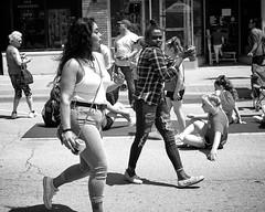 XPR28026 (alhawley) Tags: streetphotography fujifilmxpro2 meike28mmf28 street captureone acros american blackandwhite bw candid everytownusa monochrome rippedjeans tattoo