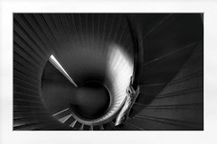 Vanishing (Christina's World :) Tags: 0426 stairs circular staircase architecture historicbuilding building hand arm light shadows dramatic blackbackground blackandwhite monochrome frame abstract art california creative chiaroscuro highcontrast textures touristattraction lighthouse sandiego topaz mysterious mystery dark bestofthebest oe topclass kurtpeiser fragiletouch admintalk exhibitoftalent elitegalleryaoi bestcapturesaoi aoi