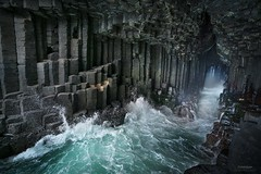 'Sonic Boom' - Fingals Cave (Gavin Hardcastle - Fototripper) Tags: fingals cave isle staffa scotland waves basalt rock danger