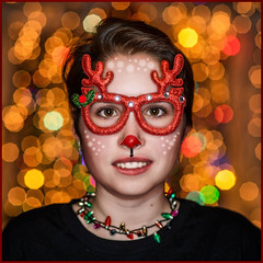 Rudolph (Rodrick Dale) Tags: rudolph glasses christmas reindeer lights bokeh