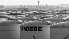 Storage tanks near the Port of Barcelona