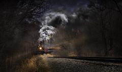 Coming Around the Curve (lleon1126) Tags: locomotive steamengine peremarquette1225 polarexpress railroad tracks friendlychallenges diamondsaward starsaward