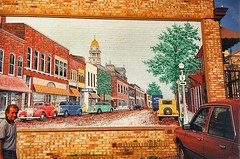 St Clairville  Ohio - MEMORIES  - 1993  - Highway 40 - America Main Street -  Mural (Onasill ~ Bill Badzo - New Format) Tags: outside design bar sunset beach waterski flower nature blue night white tree green flowers portrait art light snow dog cat sun clouds park winter landscape street summer sea city trees yellow lake people bridge family bird river pink house car food bw old macro music new moon orange garden billbadzo st clairville clairvile ohio memories hwy 40 america main onasill mural vintage photo
