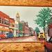 St Clairville  Ohio - MEMORIES  - 1993  - Highway 40 - America Main Street -  Mural