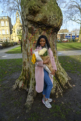DSC_1015 Mwaka from Zambia Sunflowers and Roses Portrait On Location Photo Shoot Hoxton Square Shoreditch London (photographer695) Tags: mwaka from zambia sunflowers roses portrait on location photo shoot hoxton square shoreditch london