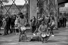 RHYTMN (NorbertPeter) Tags: street people men music musician cologne germany köln city urban outdoor drums drummer rhytmn portrait spontaneous fujifilm xt2 streetphotography streetportrait streetmusician monochrome blackandwhite bw