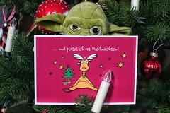 Finally Christmas ..... (Sockenhummel) Tags: karte yoda weihnachten plötzlich weihnachtsbaum christmas augen postkarte sony rx100m4 starwars kerze explore inexplore explored explorer today'sexplore fluidr