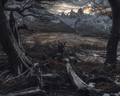 Fallout (Andrew G Robertson) Tags: fitzroy mount patagonia panorama sunset gloom argentina el chalten