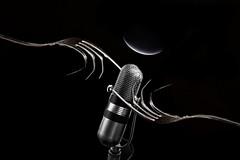 Prova (Va e VIENI) Tags: art ambrosioni zzmanipulation microfono prova audizione nero