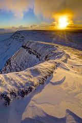 Mountains still asleep (pauldunn52) Tags: snow brecon beacons south wales pen y fan sunrise