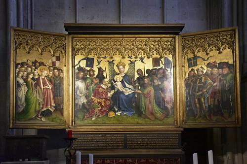 Ein Seitenaltar mit der Anbetung der Könige (Stefan Lochner); Kölner Dom, NRW (99)