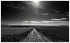 Luz (una cierta mirada) Tags: landscape sky nature road path runner running meco bnw blackandwhite cloudscape