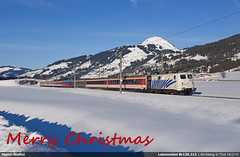 Merry Christmas! (Marco Stellini) Tags: lokomotion br139 christmas 2019 skizug e10 db austria tirol alps snow mountain
