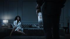 Bielik (Przemyslaw Koch) Tags: elegant living room apartment sofa interior elegance comfortable luxury couch lounge vodka ad bielik girl woman sensual couple night dark advertisement strobist composite