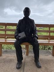 Charles Darwin Statue, the Charles Darwin Research Station, Isla Santa Cruz, the Galápagos Islands, Ecuador.