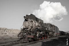 Steam JS8190... (N.Batkhurel) Tags: season winter railway railfan railroad sandaoling xinjiang china steamlocomotive trains trainspotting transport ngc nikon nikondf 24120mm