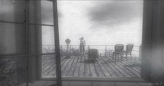 Set Fire To The Rain (larisalyn (Rachel)) Tags: smoke cloudy rain blonde chair door secondlife