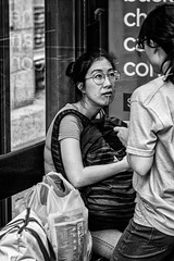 I'm listening (Chris (a.k.a. MoiVous)) Tags: streetphotography streetlife adelaidecbd