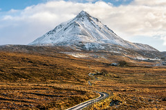 """The Road Less Travelled"" (Gareth Wray - 13 Million Views, Thank You) Tags: mount farm errigal mountain famous derryveagh mountains landscape snow capped snowing winter ice view gweedore carrickfinn county donegal ireland irish field countryside nature sand beach bay mts mt gareth wray photography nikon d810 nikkor 150600mm sigma lens scenic drive landmark tourist tourism location visit sight site dunlewey glen valley grassy spring moor road less travelled day photographer vacation holiday europe grassland path sky 70200mm"