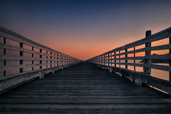 X Ray (lfeng1014) Tags: xray saintsimonspier sunset saintsimons california glow railing perspective canon5dmarkiii ef2470mmf28liiusm 6seconds landscape usa travel light lifeng