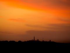 Rottnest Island Sunset (Anthony Kernich Photo) Tags: rottnestisland perth westernaustralia wa australia landscape outdoor sky sunset yellow sun twilight dusk evening silhouette longlenslandscape travel simple nature colour color olympusem10 olympusomd olympus lumix microfourthirds island orange vibrant skyline