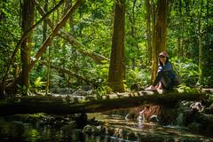 Embody werifesteria (Sayrha07) Tags: forest river stream green lush smile girl woods timber nikon d5300 outdoor adventure kaparkan falls abra