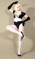 135H7L (klarissakrass) Tags: leotard gloves longlegs sexydress pumps tights xdress transgender nylons pose crossdress pinup tranny studiophotography