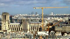 Notre-Dame de Paris et la Grue (Frantce) Tags: notredame paris grue crane travaux