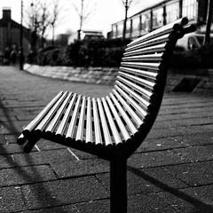 Curves And Converging Lines (Martin Tidbury) Tags: blackandwhite monotone curve converginglines dmcgx8 panasonicdmcgx8 panasonic huddersfield slaithwaite bench