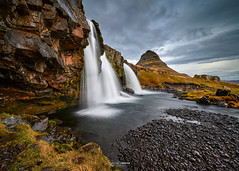 Santa's Pit Stop (CResende) Tags: santa claus iceland peace gift waterfall landscape picture caught kirkjufellsfoss kirkjufell happy newyear pitstop christmas cresende cresendephotography travel travelphotography water mountain niceland nikonz
