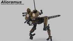 Alioramus (kotkoozya) Tags: moc mecha dinosaur military dane erland mechanekton drone scifi lego