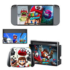 For Super Mario Odyssey Skin Sticker Decal For Nintendo Switch Console and Controller for NS Protector Cover Skin Sticker Vinyl (alaaxprss) Tags: