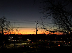 Early December Sunset (karma (Karen)) Tags: pikesville maryland sunsets trees poles wires htmt htt cmwd
